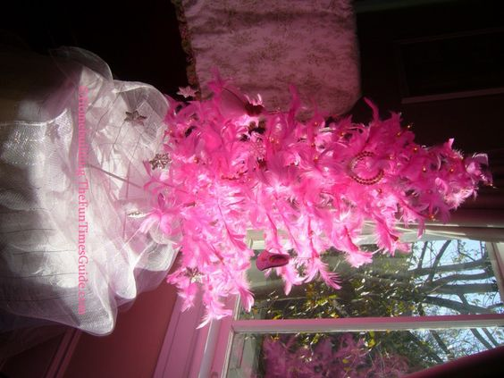 Image detail for -pink feather Christmas tree brightens a room ...