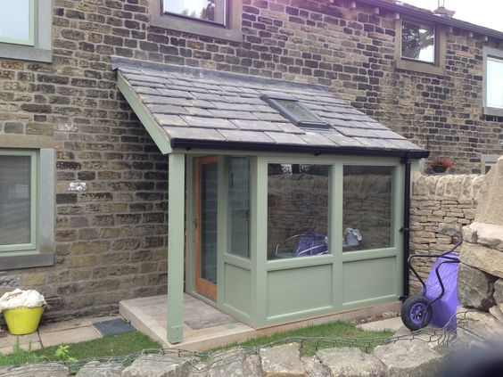 Porches wood frames and extensions on pinterest for Patio extension designs
