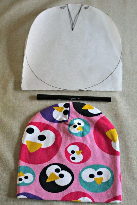 mallikelpoinen: DIY pipon kaava. Sewing tutorial for a jersey hat (written in…