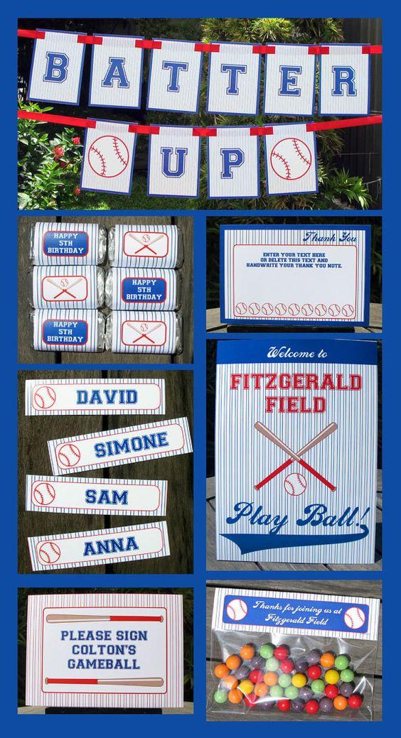 Baseball Birthday Invitation & Party Decorations por SIMONEmadeit