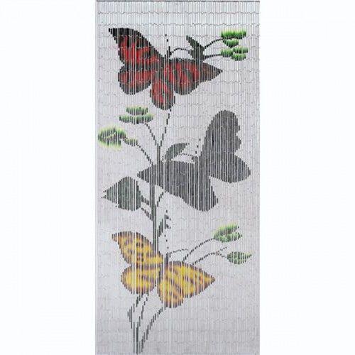 White Butterflies is a 90 x 200cm Big Bead Door Curtain featuring ...