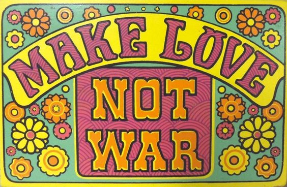 As big as 'Peace' and 'Flower Power' terms were - so too was the phrase 'Make Love Not War' by spring of 1967 -- the peace activism movement gathered a lot of followers spring of 1967