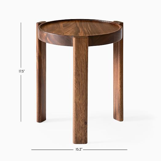 Wood Stacking Side Table In 2020 Side Table Side Table Wood Rustic Side Table