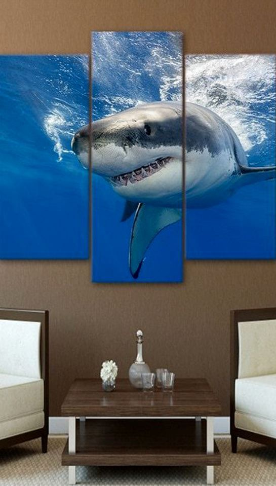 Underwater Shark Wall Art Hd With Images Large Wall Pictures