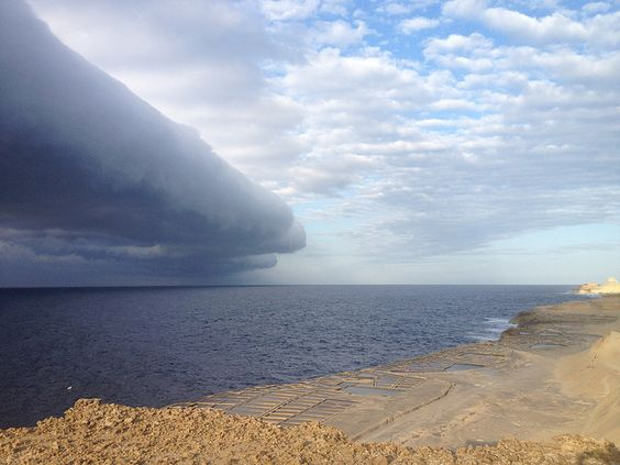 Roll cloud over Gozo by Meteo Malta, via Flickr