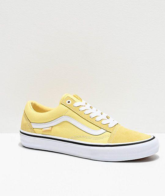 Vans shoes women, Yellow vans
