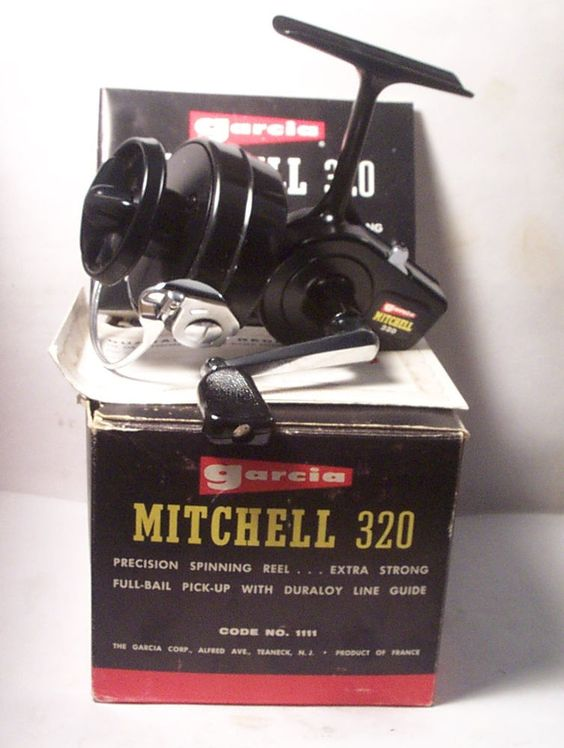 mint vintage garcia mitchell 320 spinning spin fishing reel w box, Fly Fishing Bait