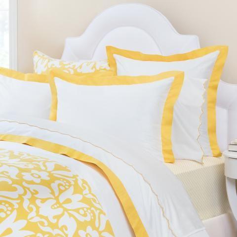 Yellow Linden Border Duvet Cover Twin Twin Xl Yellow Bedding