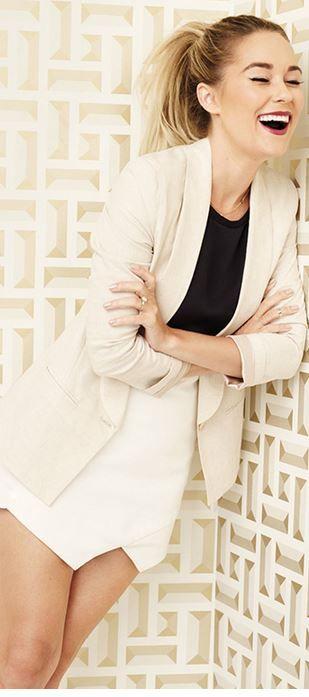 Lauren Conrad: Skirt – Mason by Michelle Mason  Jacket – Paper Crown