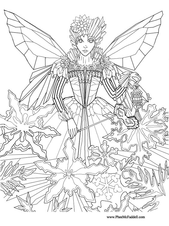 Fairy princesses, Fairy coloring pages and Fairies on