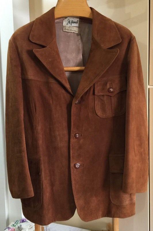 Vtg Real Suede Western Rockabilly Blazer Jacket Sz 42 John Wanamaker Israel | eBay