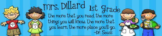 Mrs. Dillard's First Grade...Great literacy ideas