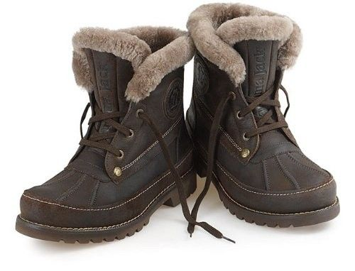 PANAMA JACK MENS POLAR IGLOO WATERPROOF LEATHER FUR LINED ANKLE ...