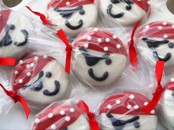 Pirate Inspired Chocolate Covered Oreo Cookies by FavorsbyLauren, $24.00