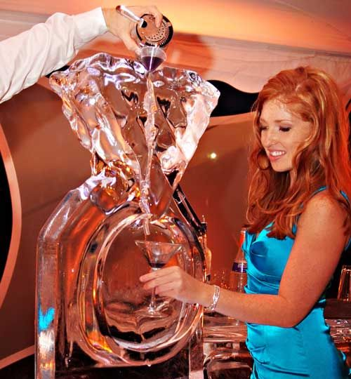 wedding ice luge | Platinum Weddings - Martini Luge – WE tv