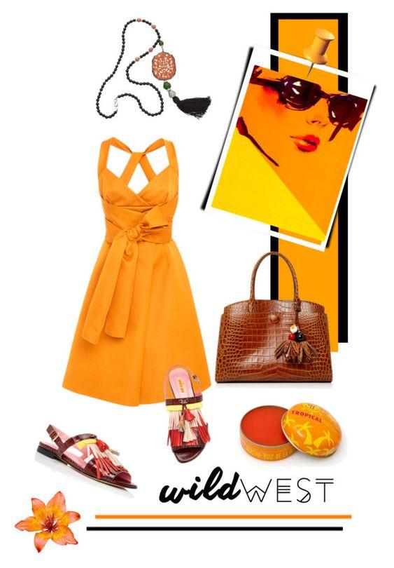 """orange crush-2"" by fl4u ❤ liked on Polyvore featuring Paule Ka and Kenneth Jay Lane"