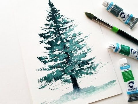 Easy Tree Watercolor Painting For Beginners Youtube Tree