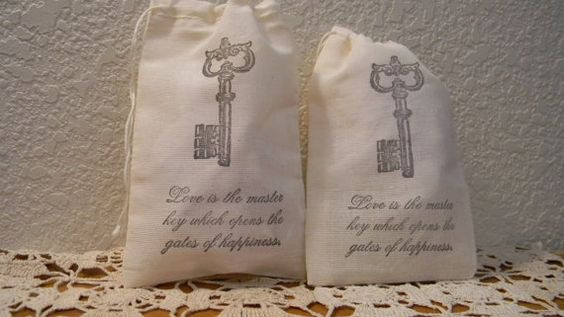 Set of 20 Skeleton Key Quote Wedding Valentines by CrimsonHollow, $22.00