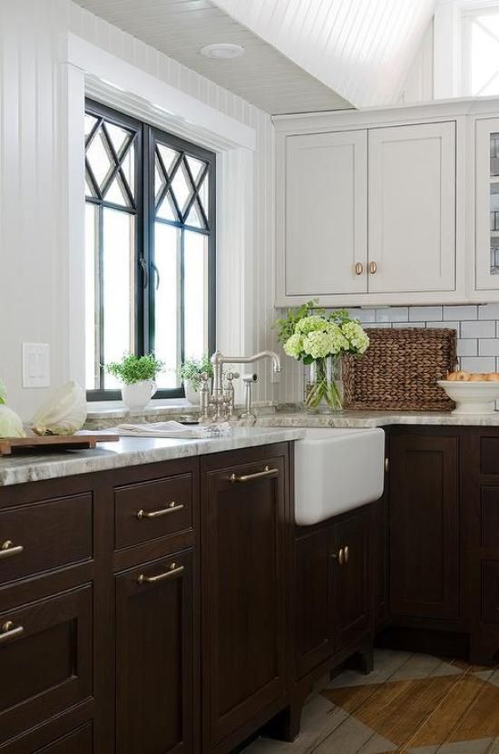 15 Stunning Kitchens With Stained Cabinets Sincerely Marie Designs Stained Kitchen Cabinets Brown Cabinets Dark Brown Cabinets
