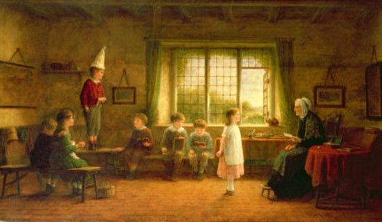 """The Dames School"", 1899. Frederick Daniel Hardy (1826 – 1911), English painter. #castig:"