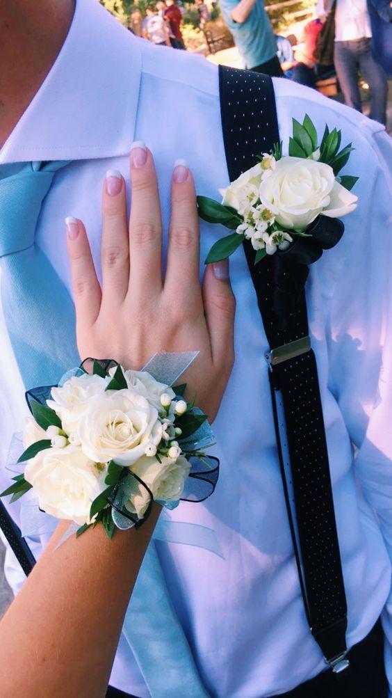 Wedding Wrist Corsage Groom Boutonniere Bridal Bridesmaid Wrist Flower Decor