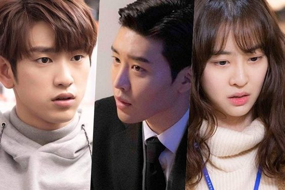 """GOT7's Jinyoung, Kim Kwon, And Dasom Get Serious Behind The Scenes Of """"He Is Psychometric"""""""