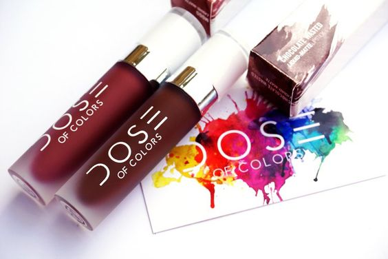 Dose of Colors Liquid Lipsticks in Mood & Chocolate Wasted #doseofcolors #chocolatewasted #mood