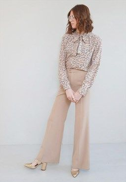 Vintage 1970's Amazing Coffee Coloured Flared Trousers