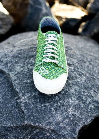 ReKixx - SIGNATURE GREEN - Sneakers with a Purpose.  Recycled sneakers