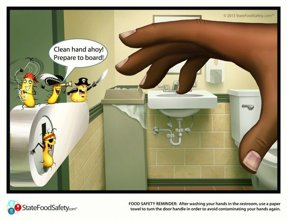 Pirate Germs Food Safety Reminder After Washing Your
