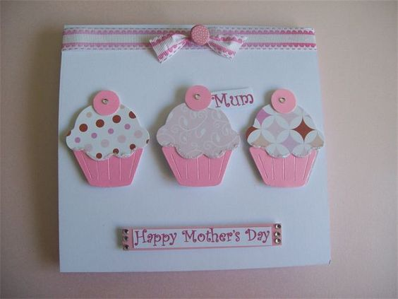 Mother's Day Card-Pink Cupcakes -Code 368  at Creative Stores