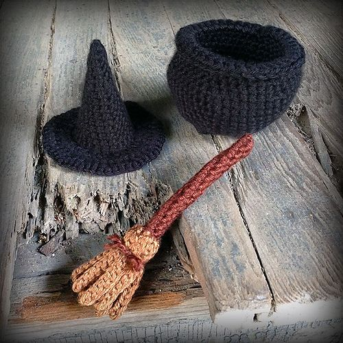 Ravelry: Witch Accessories Crochet Patterns pattern by Lilana Wofsey Dohnert