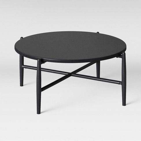 Casson Metal Top Patio Coffee Table Black Project 62 Target