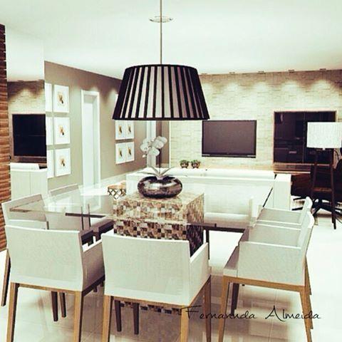 """""""Sala Estar / Jantar  Apartamento Espírito Santo - Betim/MG  #archlovers #arquitetura #decoração #designinteriores #decor #decorate #decorating…"""" - http://www.fernanndaarquiteta.com/"""