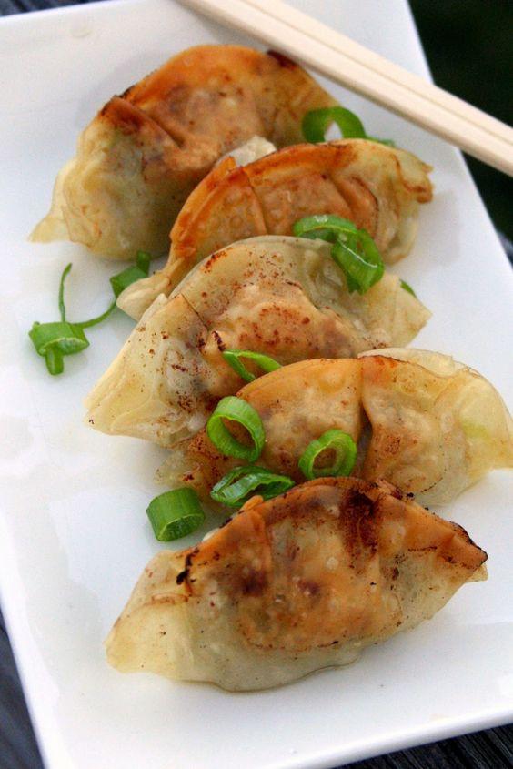 Pork and garlic chive dumpling recipe