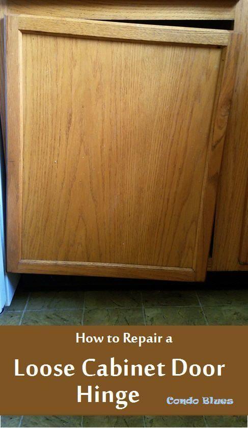 How To Repair A Loose Cabinet Door Hinge Cupboard Hinges Cabinet Doors Cupboard Door Hinges