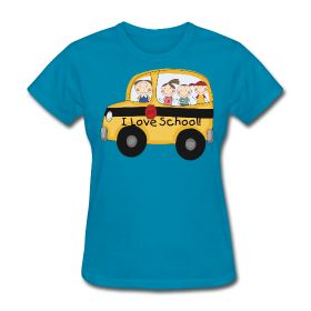 I Love School! bus http://kreativeinkinder.spreadshirt.com/