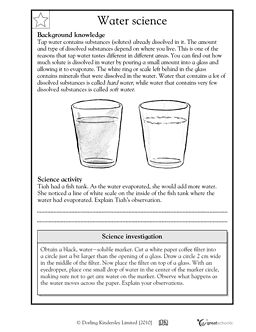 Printables Science 5th Grade Worksheets warm activities and comprehension on pinterest hard water has a lot of dissolved substances solutes in it while soft fewer this science worksheet your child learns some the