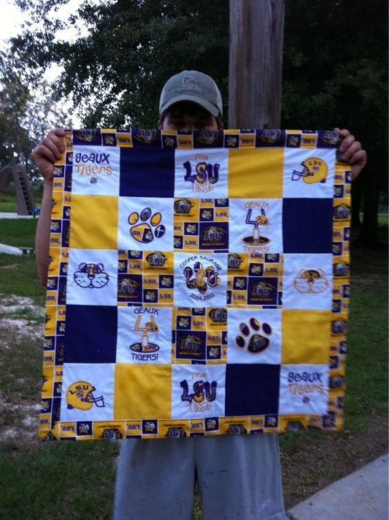 LSU baby quilt I made: