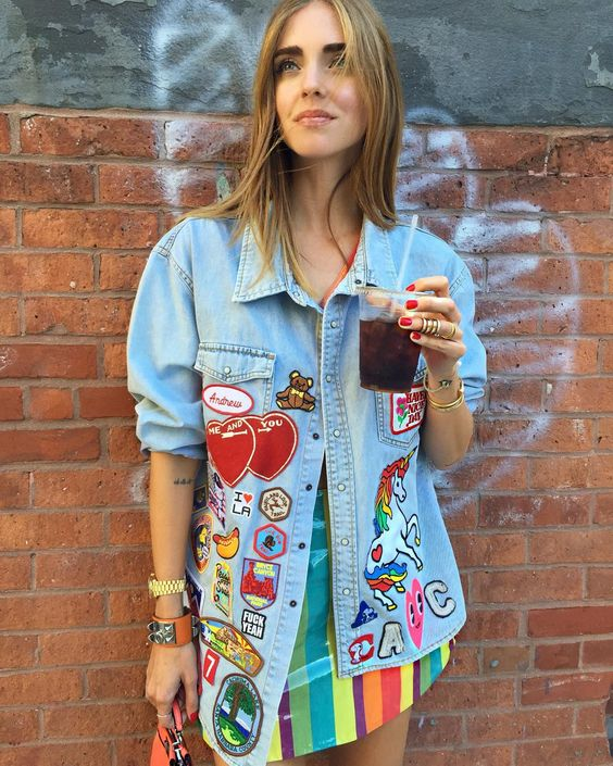 Loved this denim jacket I customized with all the patches I collected during my trips #Nyfw #TheBlondeSaladGoesToNewYork #TheBlondeSaladGoesToFashionweek: