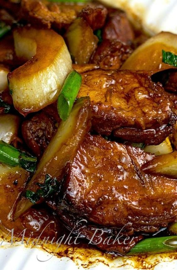Roast Pork with Chinese Vegetables | Recipe | Chinese Vegetables ...