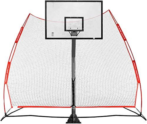 New Rukket Basketball Return Net Guard And Backstop Hoop Rebound Back Netting Attachment For Ya Basketball Basketball Court Backyard Outdoor Basketball Court