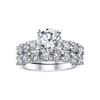 cool t w cz bridal ring set jcpenney - Jcpenney Wedding Ring Sets