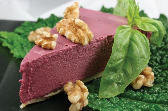 Raw, Non-Dairy Blueberry Cheesecake