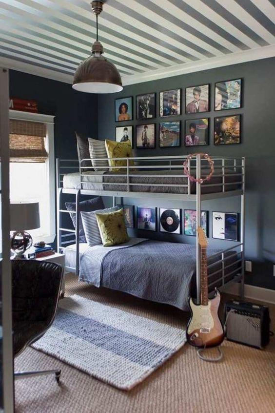 chambre enfant ou ado style industriel pour 2 garons ides dco - Chambre Ado Garcon Style Industriel