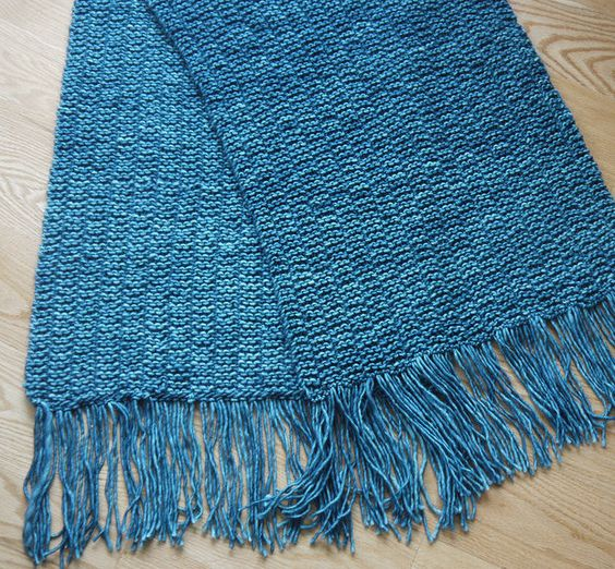 Free Knitting Pattern for Prayer Shawl - This easy shawl is offered by the Pr...
