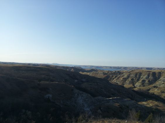 View from a location we were at. Near Mandaree ND, that is Lake Sakakawea in the background.
