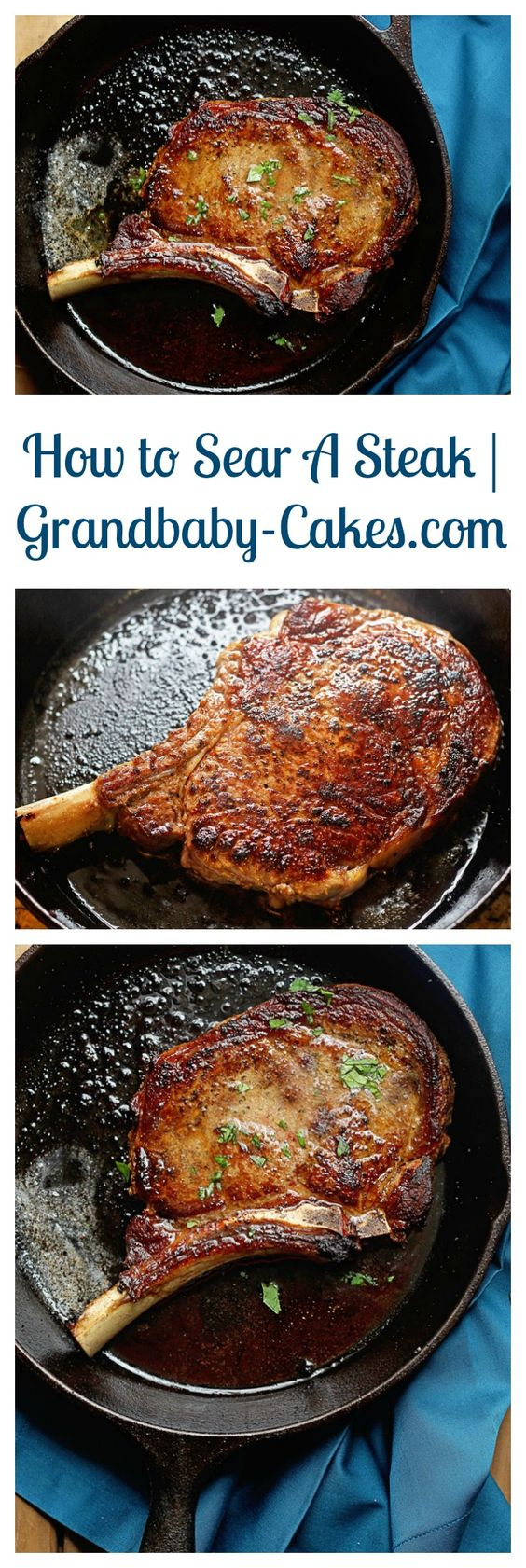 Learn an Easy and Delicious Way to Sear a Steak - Forget expensive steakhouses! You can make great steak at home! | Grandbaby-Cakes.com