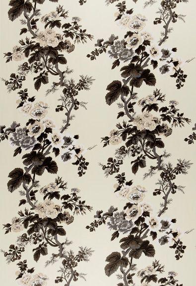 Pyne Hollyhock Print Schumacher Fabric