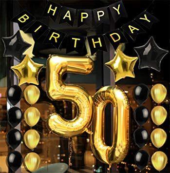 Amazon Com 50th Birthday Decorations Party Supplies Party F 50th Birthday Party Decorations 50th Birthday Party Ideas For Men Surprise 50th Birthday Party